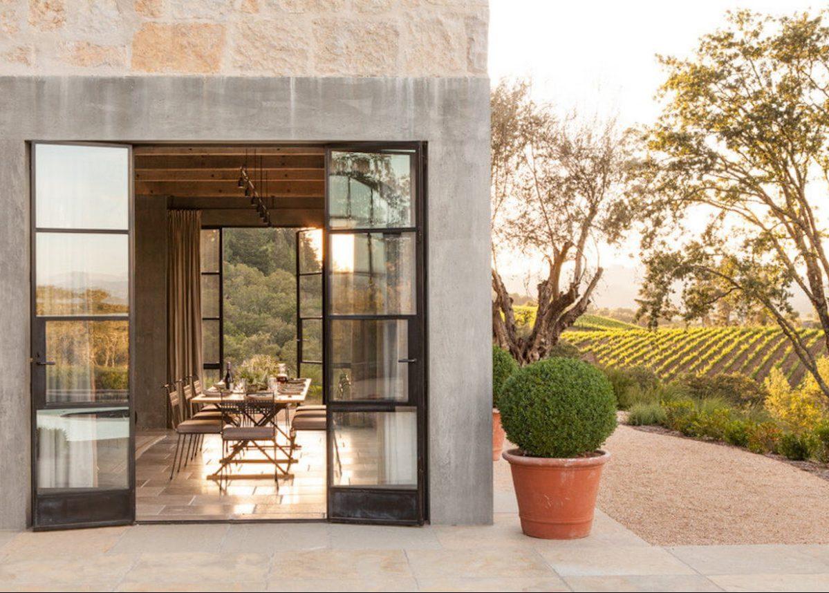 deco maison de campagne moderne terrasse vigne