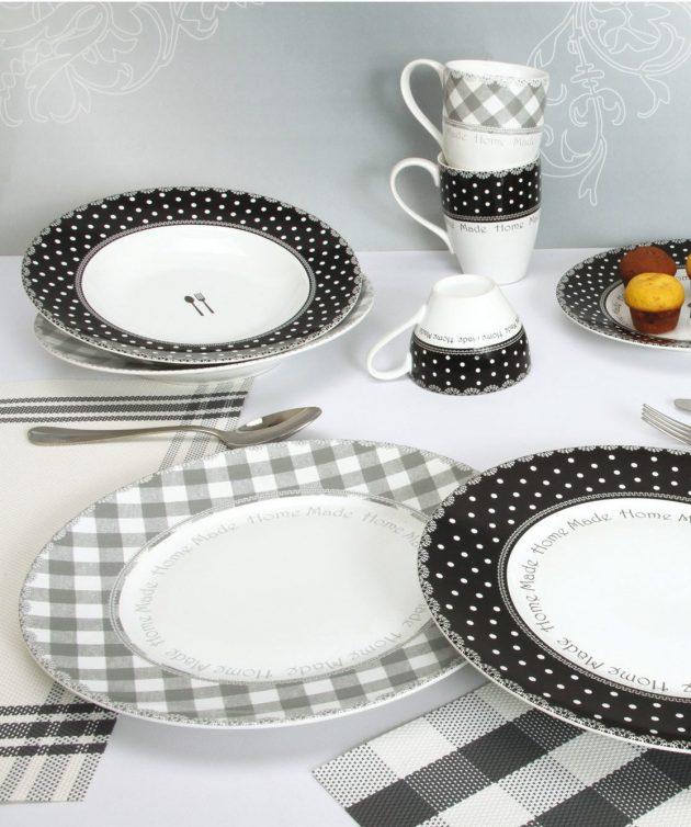 art de la table vaisselle deco vichy