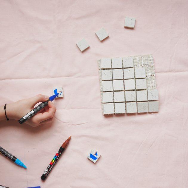 comment faire un memory avec des petits carreaux de carrelage