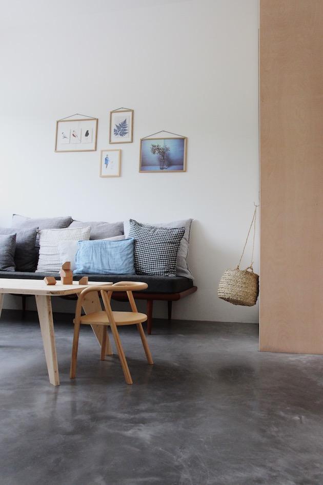 salon béton ciré style minimaliste déco kinfolk