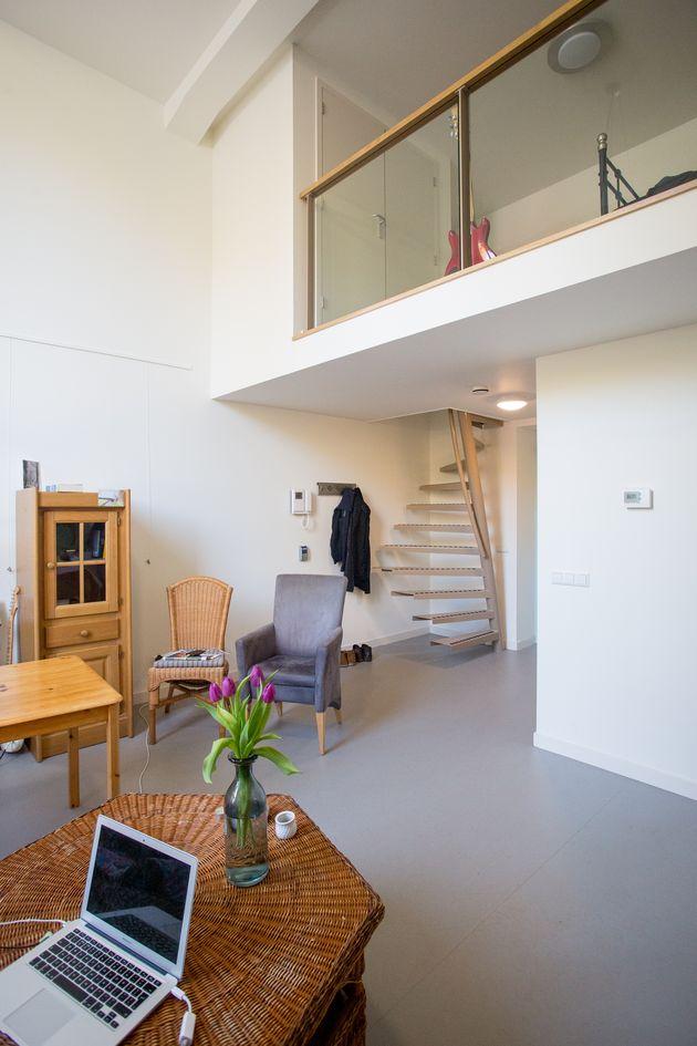 escaliers clair 1m2 duplex balcon en verre
