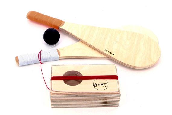 jeu de raquette basque fabriqué en bois indispensables de l'été