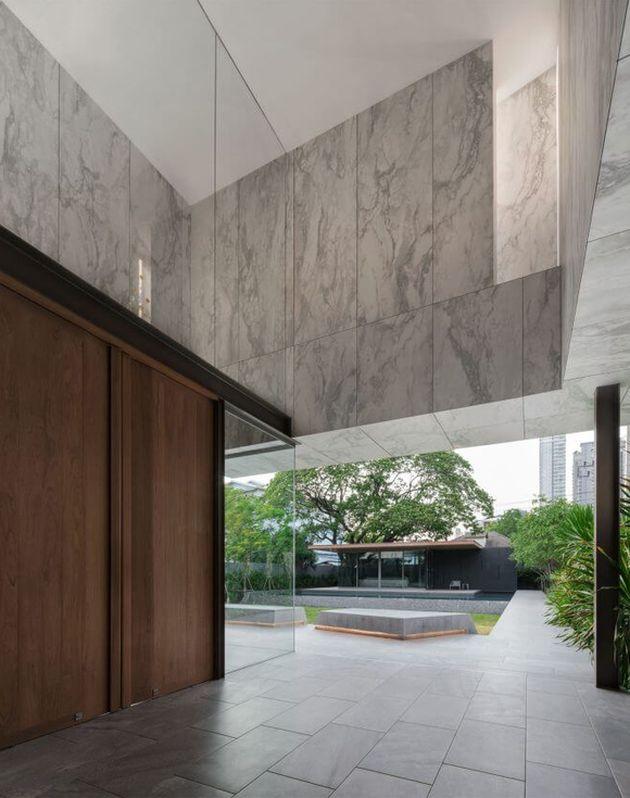 terrasse de maison en marbre tendance marbre