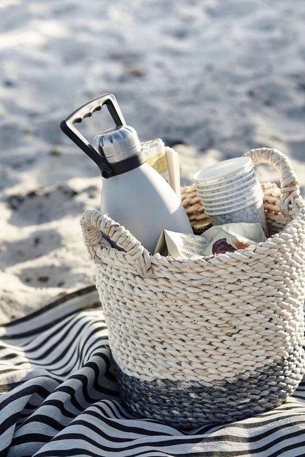 pique nique champetre plage sable surf van