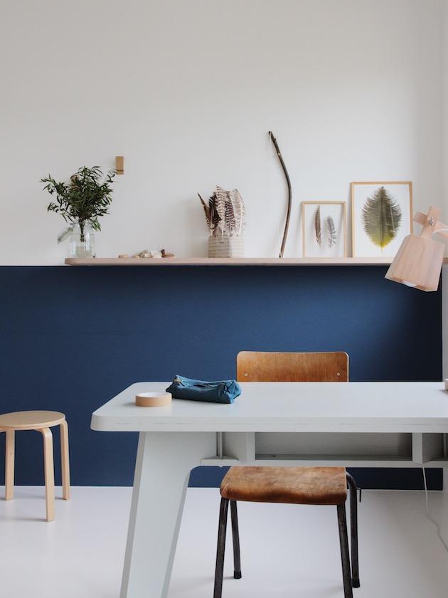 chambre vintage scandinave style minimaliste