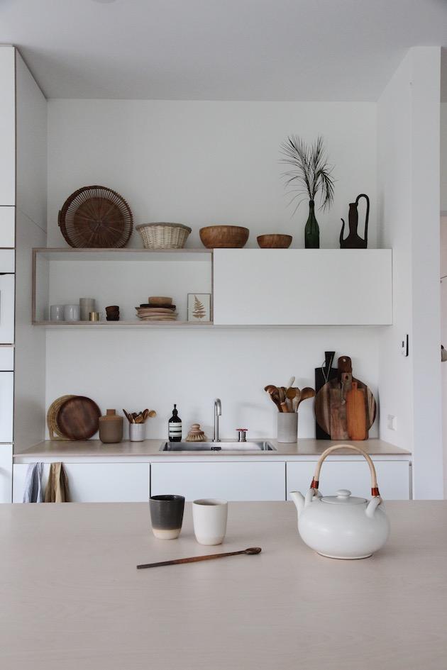 cuisine style minimaliste ceramique japonisante