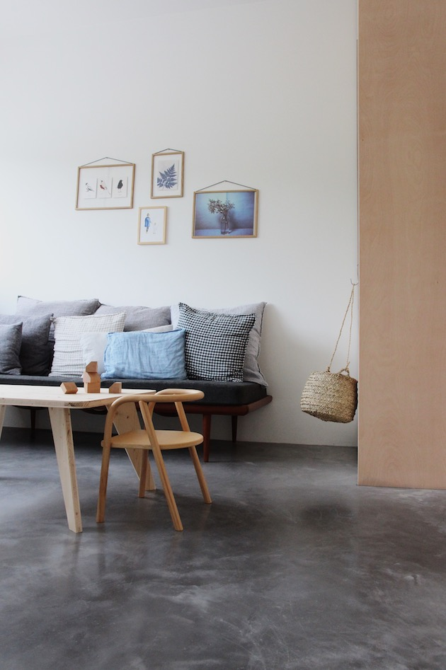 salon béton ciré style minimaliste kinfolk