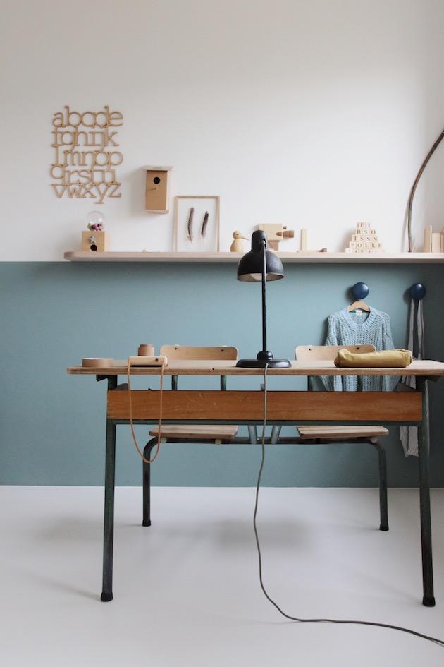 soubassement bois dessiné déco style minimaliste chambre
