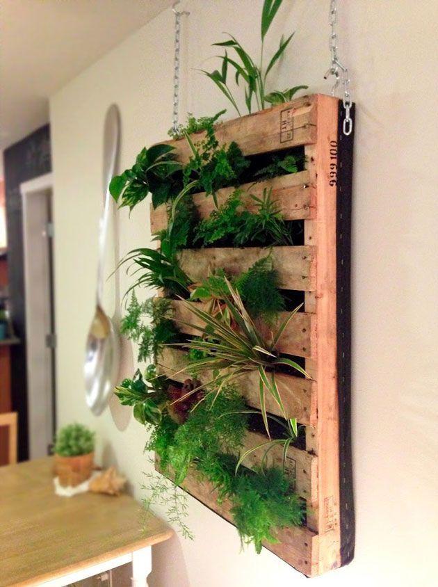 jardiniere en palette suspendue diy