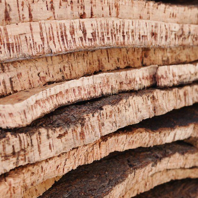 liège décoratif séchage ecorce brut récolte porto