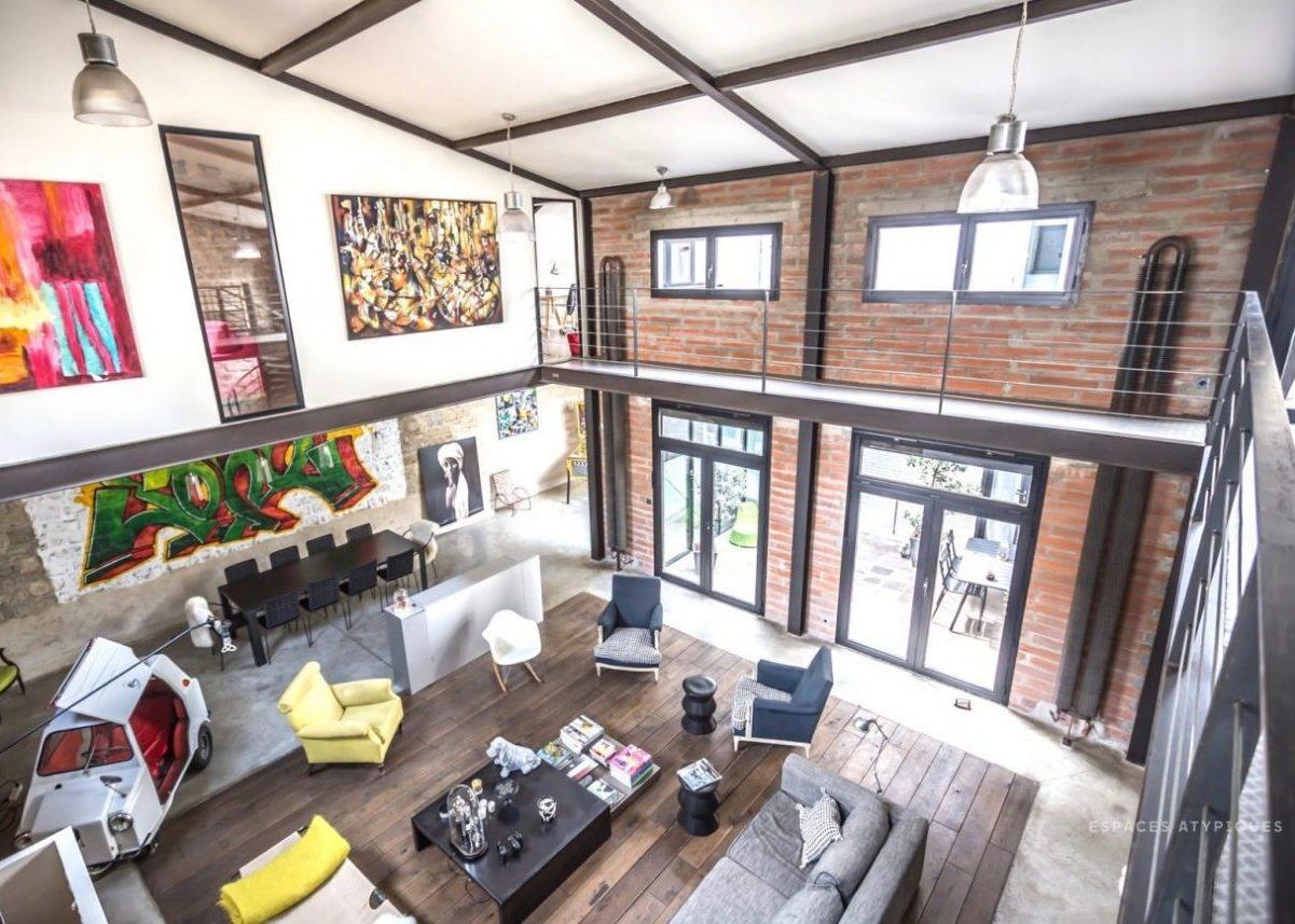 espaces atypiques loft ancienne usine