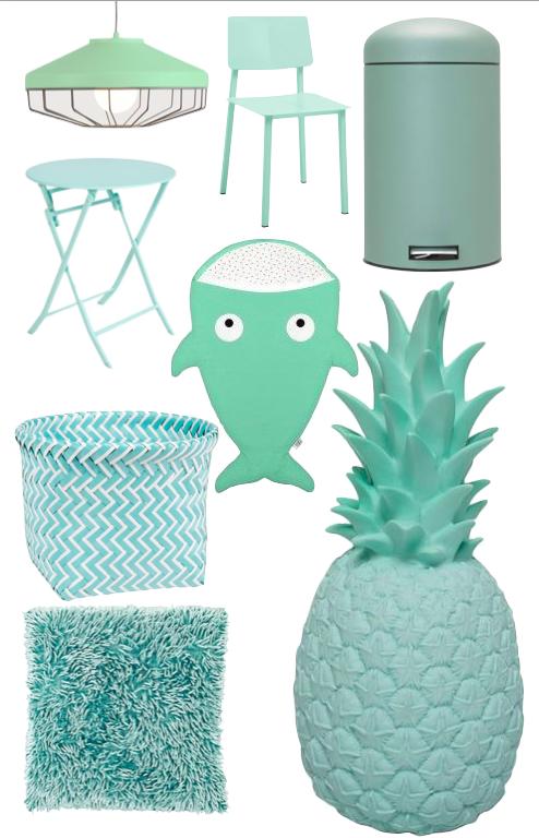 couleur mint deco produit design rigolo idée cadeau anniversaire