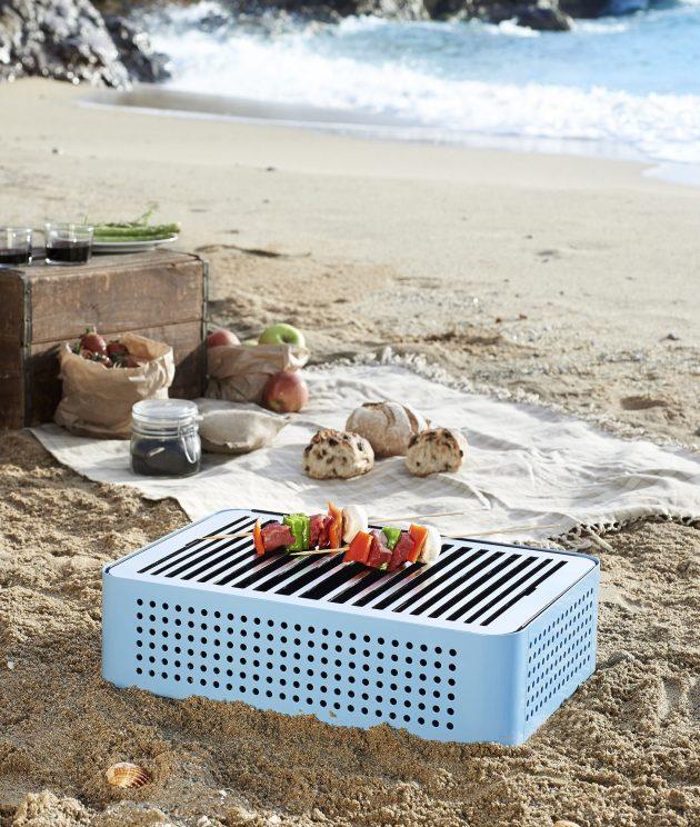 les accessoires pour cuisiner à l'extérieur barbecue de plage