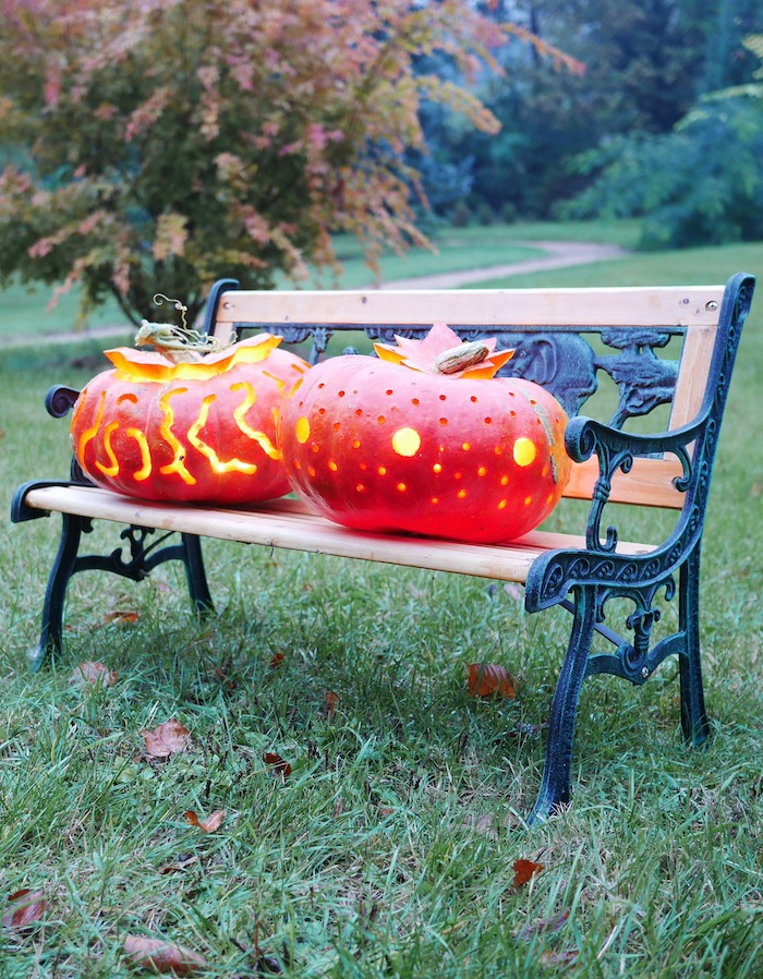realiser ses propres citrouilles halloween a la perceuse