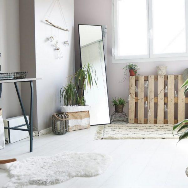 deco avec palette jardiniere en palette ambiance scandinave
