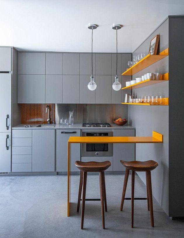 touche couleur jaune pour deco salon gris