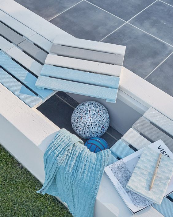 banc avec palette banc avec palette trendy banc de jardin. Black Bedroom Furniture Sets. Home Design Ideas