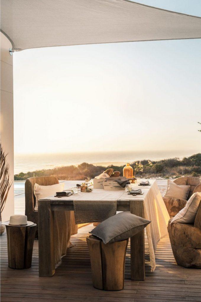 h et m home repas terrasse diner d été