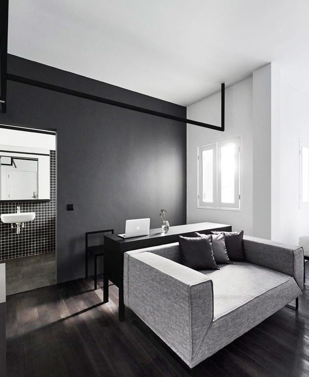 chambre masculineblack and white instagrammable