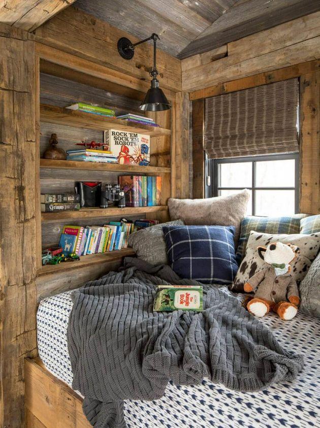 intérieur bois chambre enfant cocooning
