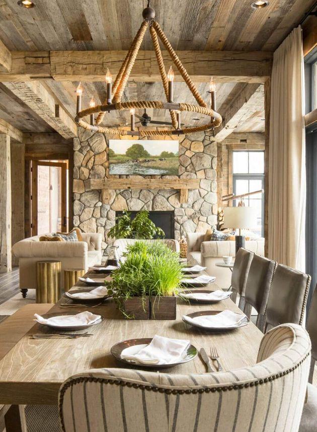 intérieur bois table en bois salon