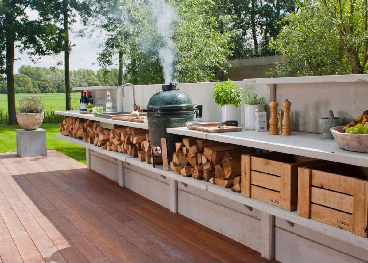 les accessoires pour cuisiner à l'extérieur jardin