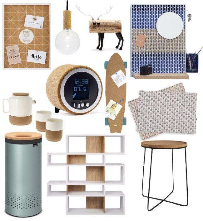 liège décoratif objet design et écologique pour la maison
