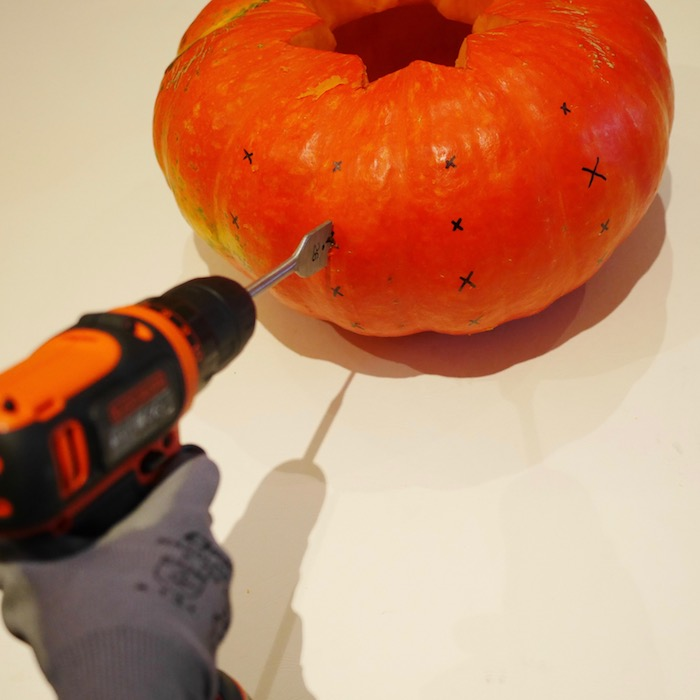 perceuse diy citrouilles halloween decoration
