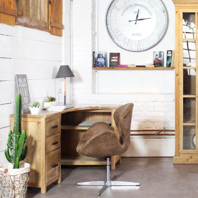 petit bureau d angle bois secretaire deco style chalet