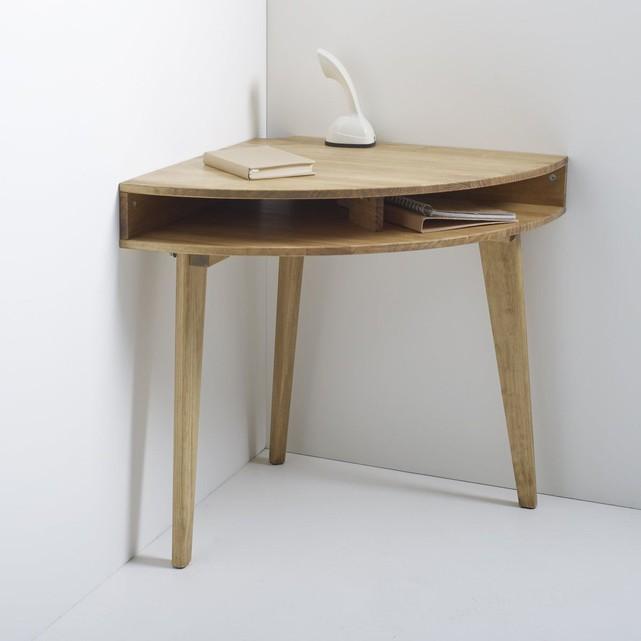 petit bureau d angle bois brut minimaliste