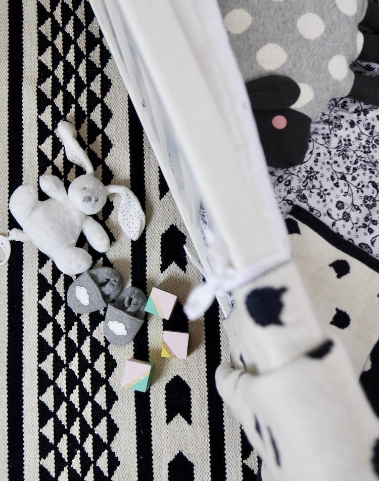 déco chambre de bébé monochrome black and white