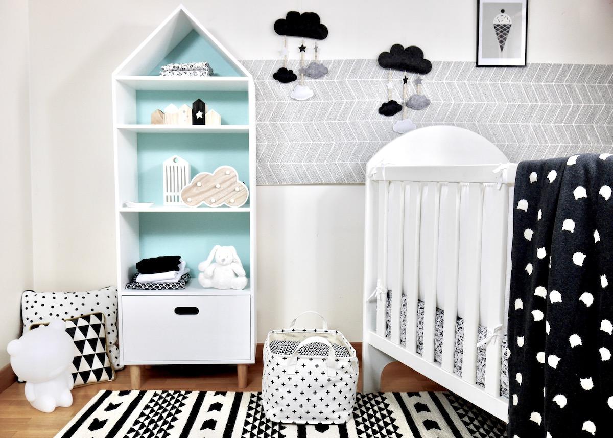 Déco chambre bébé en noir et blanc Blog deco Clem Around The Corner