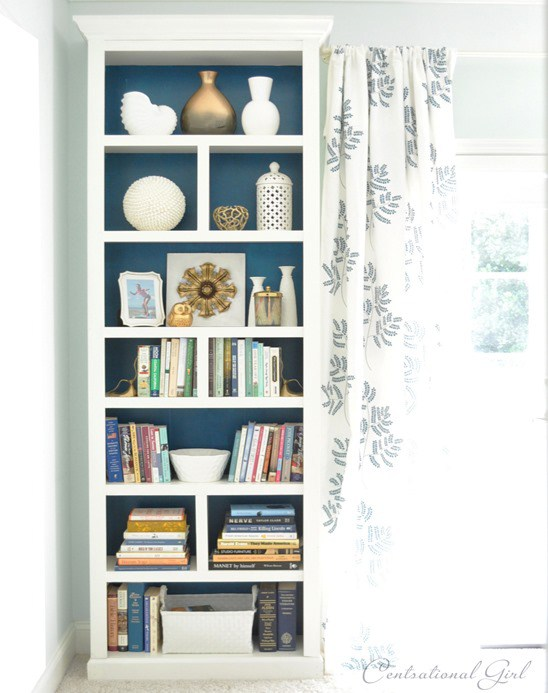 ikea hack billy diy chambre fond bleu