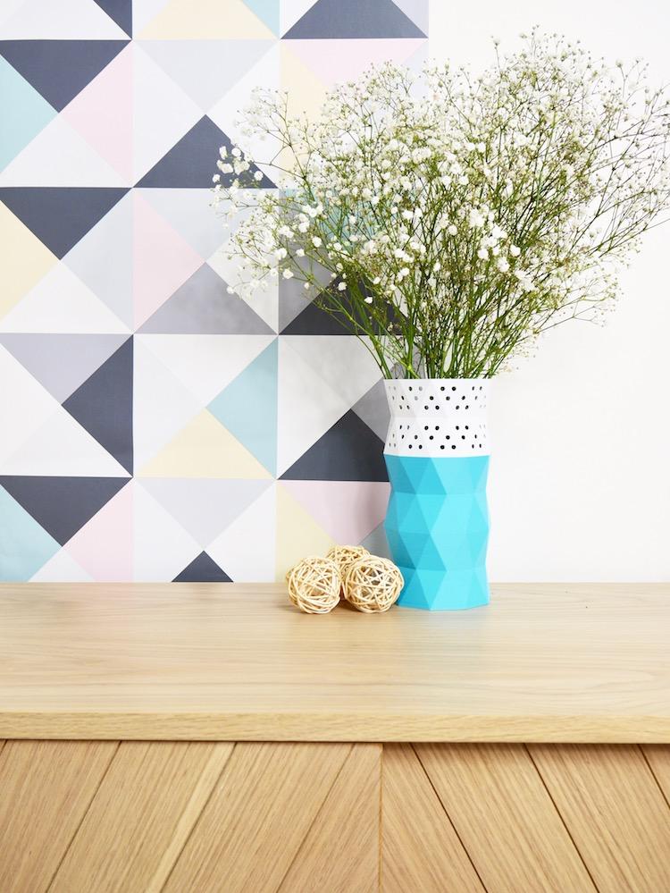 diy vase bicolore a imprimer 3d blog deco