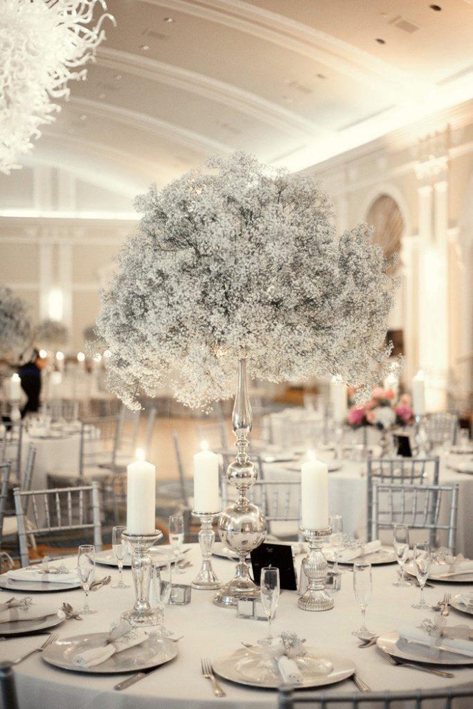 mariage theme hiver tout en blanc