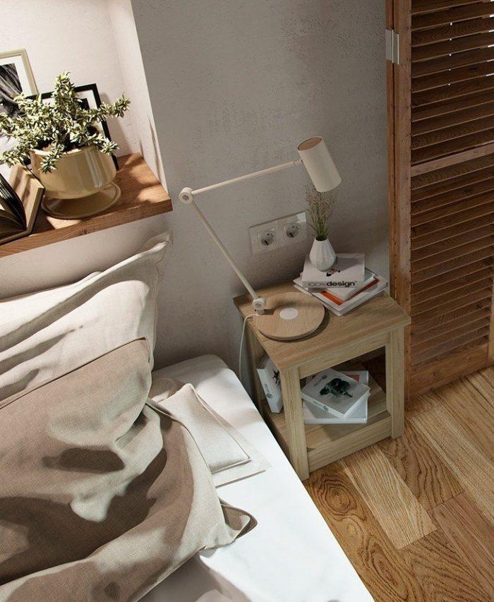 studio duplex chambre en mezzanine scandinave cosy