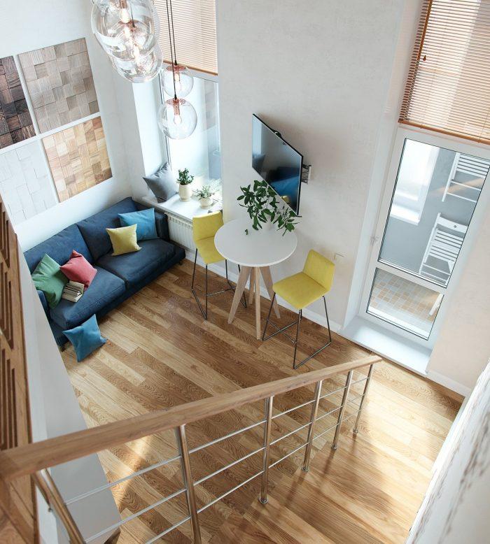 comment profiter de la hauteur sous plafond pour creer une chambre studio duplex