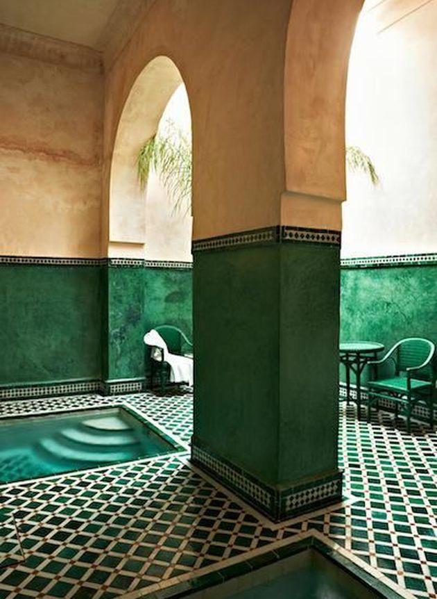 mosaique verte maison marocaine