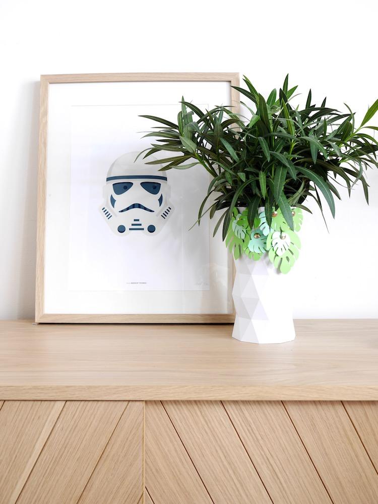 diy vase blanc geometrique impression 3d