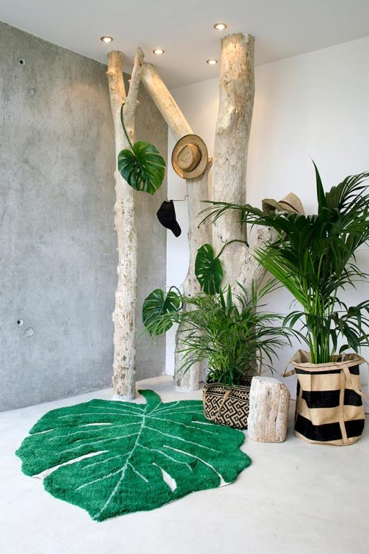 tapis monstera clem around the corner la delicate parenthése