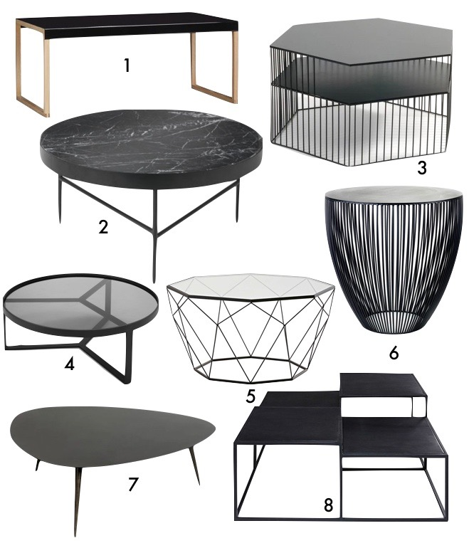 blog deco masculine chambre idee table basse noire