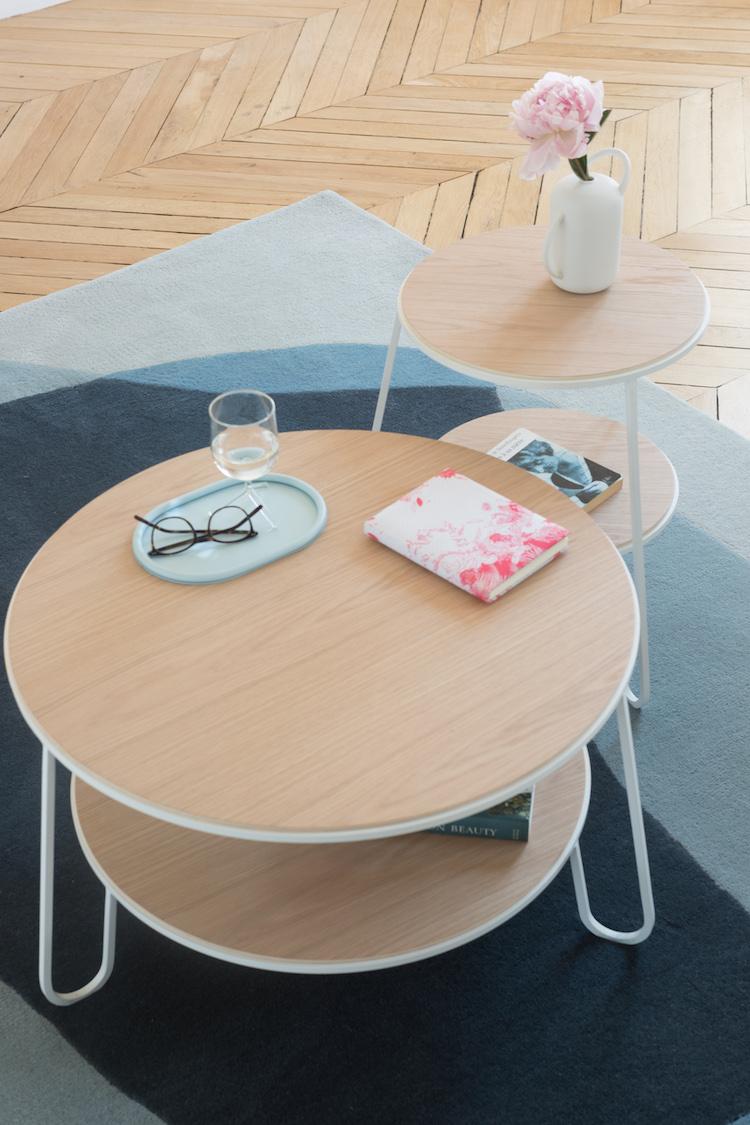 table basse ronde bois et metal moderne nouveautés Hartô
