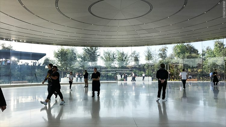 apple park steve jobs theater interieur hall