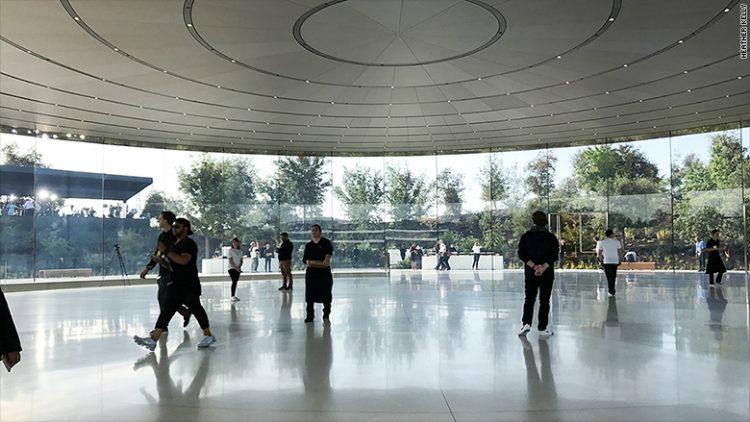 apple park steve jobs theater interieur hall