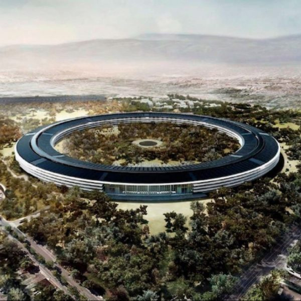 campus apple park 2 batiment soucoupe volante donut