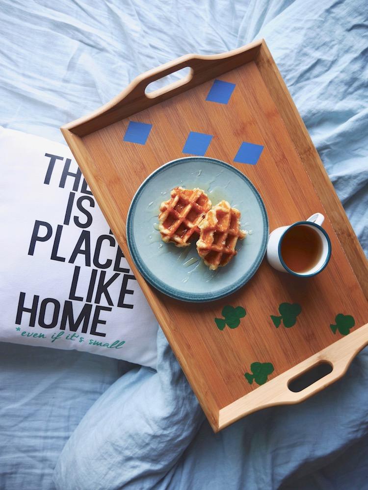 DIY plateau petit dejeuner personnalisé