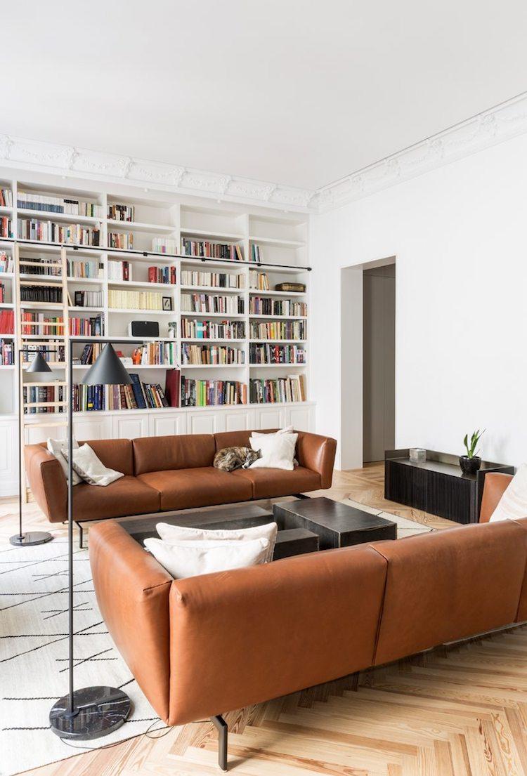 visite blog deco symétrie axiale salon canape cuir bronze