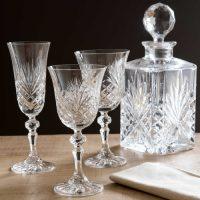 verre a vin en cristal losange idées cadeaux femme