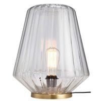 lampe en verre cannele et metal dore vintage retro style