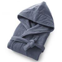 idées cadeaux femme noel peignoir gris doux capuche